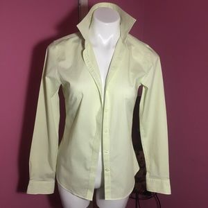 Banana Republic lemon and Lime Non Iron Fitted